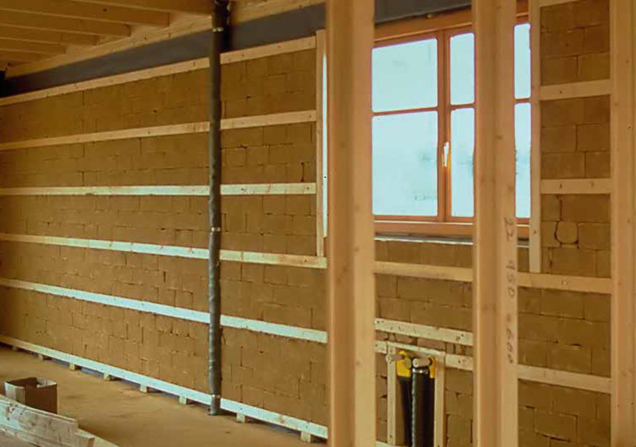 Bekannt Lehmbau Techniken › Nichttragende Wände aus Lehmbaustoffen DL62