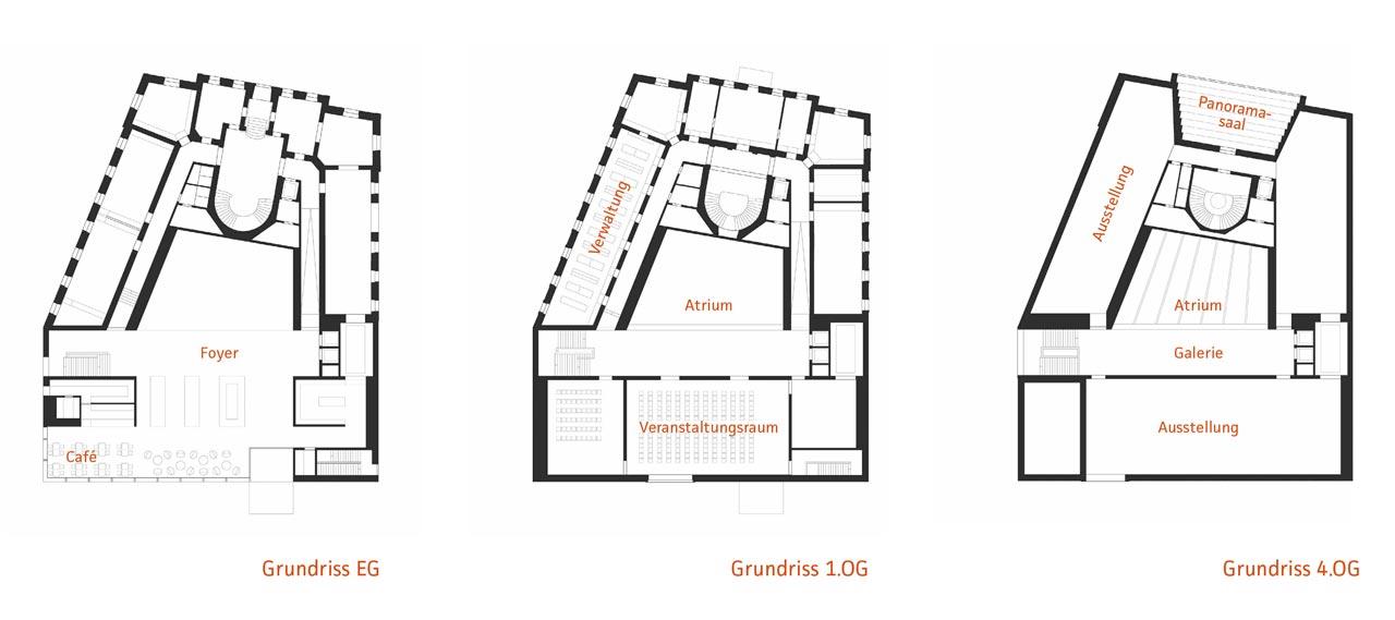 Foyer Museum Grundriss : Vorarlberg museum a bregenz dachverband lehm e v