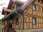 LEHM 2012: Neubau in Nauendorf mit Holz und Leichtlehm nach historischem Vorbild, mit Lehmputz im Außenbereich (Ausführung durch Fa. Lehmbaustoffe Thilo Schneider)
