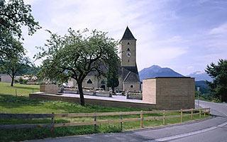 Aussegnungskapelle und Friedhof, Batschuns, Österreich